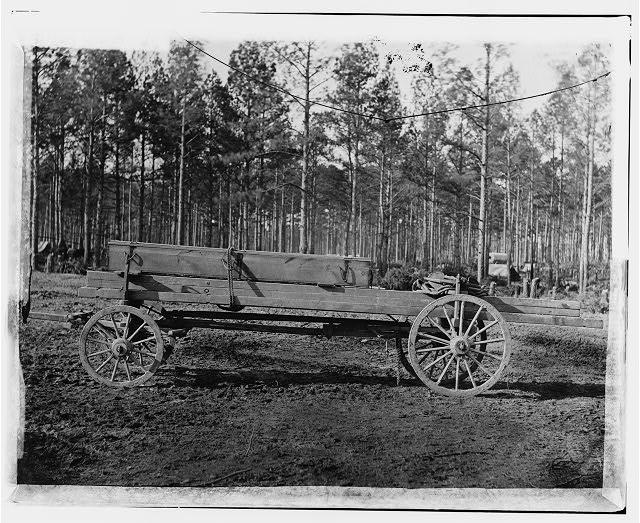 Rappahannock Station, Virginia. Canvas pontoon wagon, 50th New York Engineers