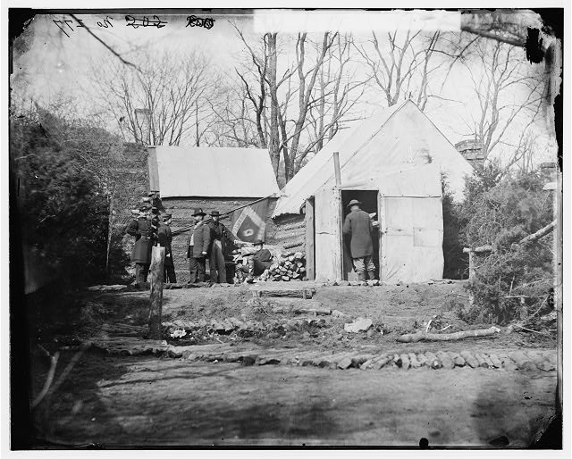 Brandy Station, Virginia. Winter quarters of Col. J.B. Howard, Chief Quartermaster, 3d Army Corps