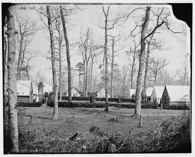 [Brandy Station, Va. Field hospital of the 3rd Division, 2d Corps]