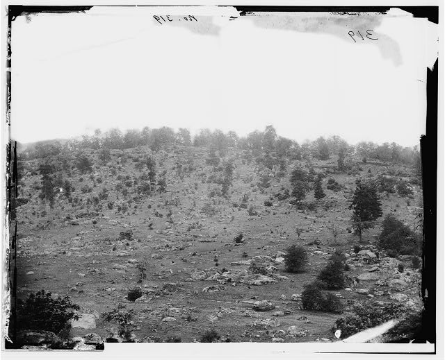 Gettysburg, Pennsylvania. View of Little Round Top