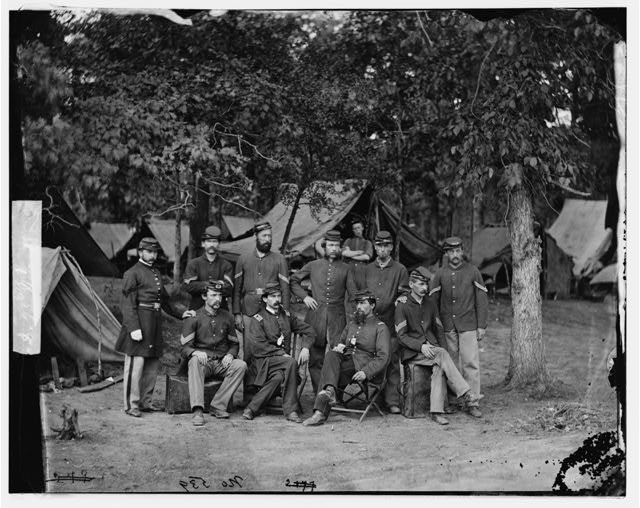 Bealeton, Virginia. Officers and non-commissioned officers of Company D, 93d New York Infantry