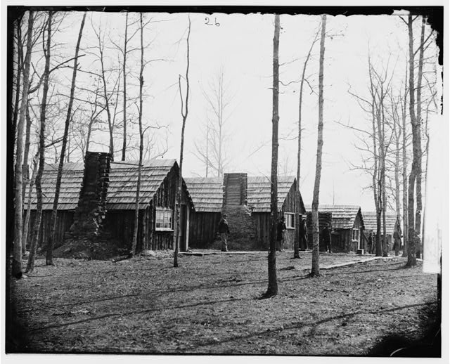 [Rappahannock Station, Va. Officers' quarters, 50th New York Engineers; another view]