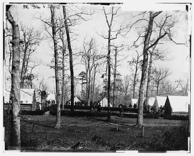 Brandy Station, Virginia (vicinity). Field hospital of 3d Division, 2d Army Corps