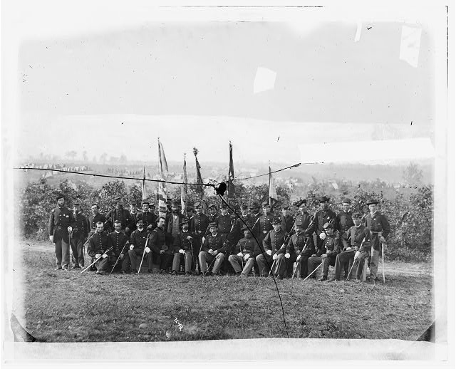 Lt. Col. James J. Smith and officers of 69th New York Infantry (Irish Brigade)