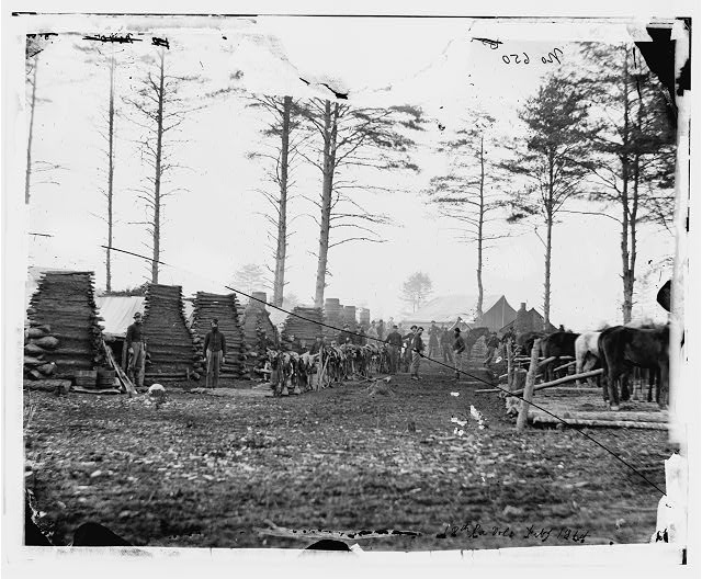 Brandy Station, Virginia (vicinity). Camp of the 18th Pennsylvania Cavalry