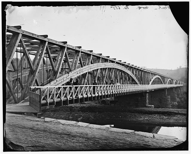 [Washington, D.C. Chain Bridge over the Potomac; Chesapeake and Ohio Canal in foreground]