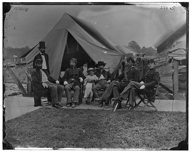 Washington, District of Columbia (vicinity). Officers of 5th U.S. Cavalry