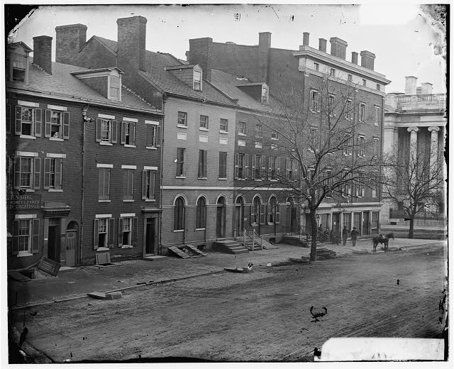 [Washington, D.C. Sanitary Commission storehouse and adjoining houses at 15th and F Sts., NW]