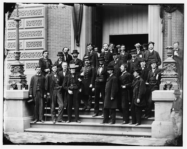 Washington, District of Columbia. Group at Quartermaster General's office. Corcoran's Building, 17th St. and Pennsylvania Ave. N.W.