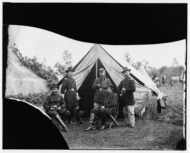 Culpeper, Virginia (vicinity). Generals, [Gershom] Mott, [John H.H.] Ward and Colonels, Austin, [William Brewster and [John E.] Farnum