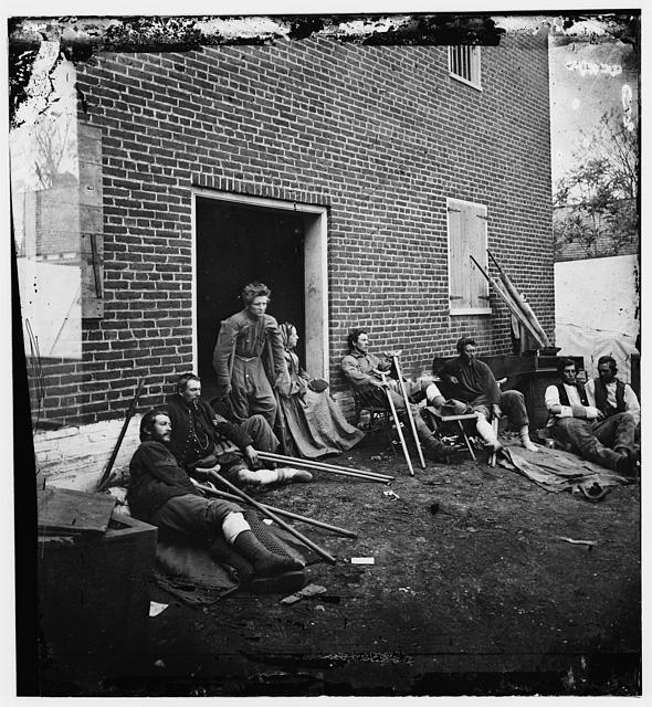 Kearney's men wounded at Fredericksburg.