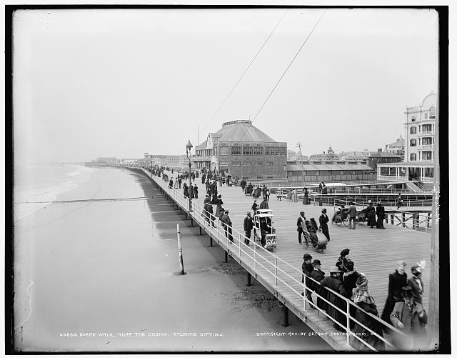Board walk near the casino, Atlantic City, N.J.
