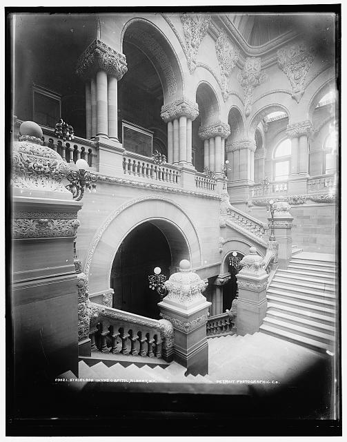 Staircase in the Capitol, Albany, N.Y.