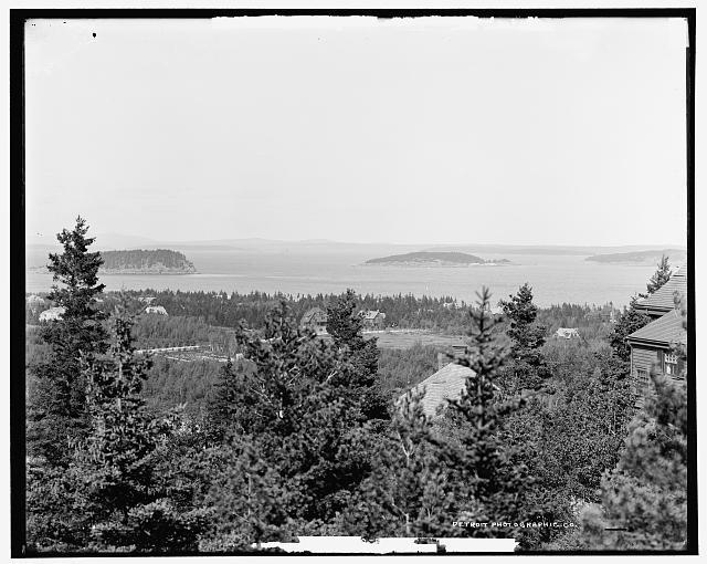 Bar Harbor from Strawberry Hill, Mt. Desert Island, Me.