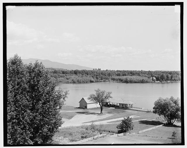 [Lake from Colonial Hotel, Centre Harbor, Lake Winnipesaukee, N.H.]