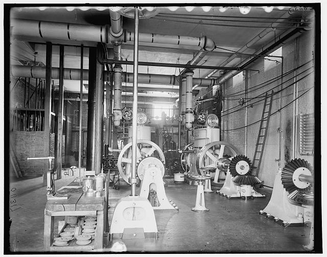 Interior of power house, Sault Ste. Marie