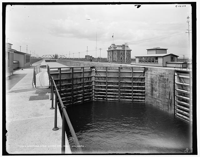 Canadian lock, lower end, Sault Ste. Marie
