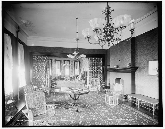 Parlor, Country Club, Grosse Pointe Farms [sic]