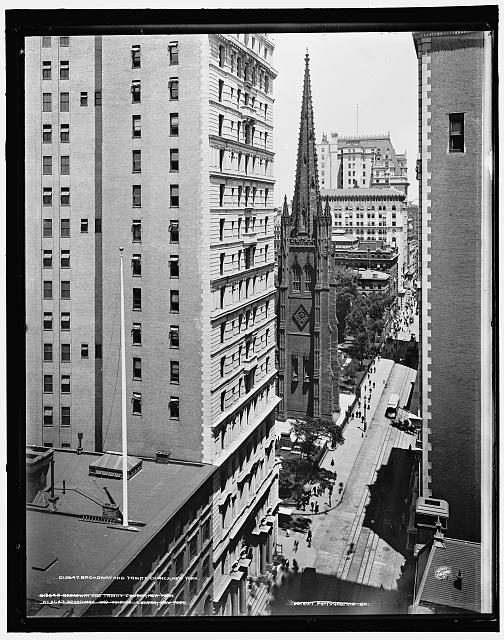 Broadway and Trinity Church, New York