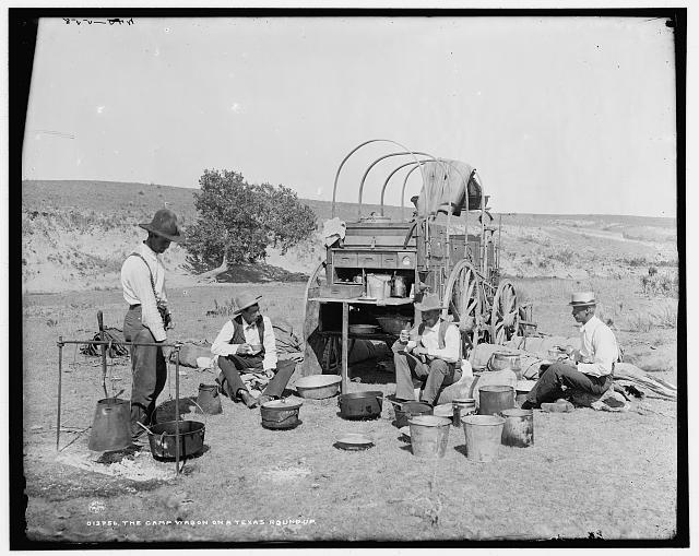 Camp wagon on a Texas roundup