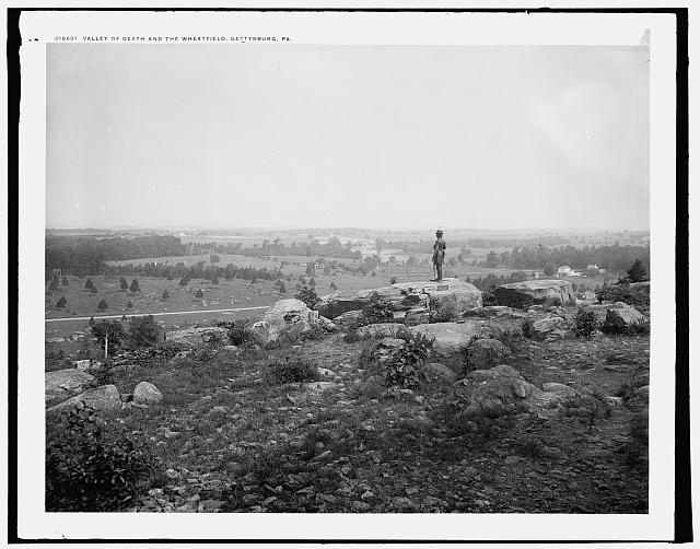 Valley of Death and the Wheatfield [i.e. Wheat Field], Gettysburg