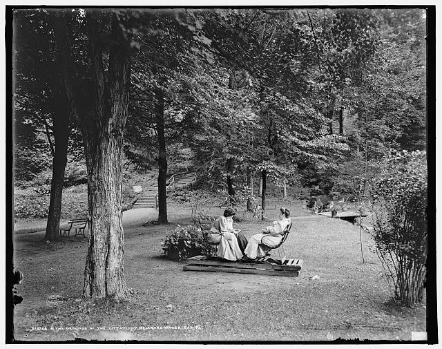 In the grounds of the Kittatinny [House], Delaware Water Gap, Pa.