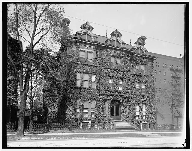 Residence of R.A. Alger, front view, Detroit, Mich.