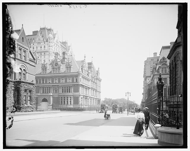 [New York, N.Y., Vanderbilt House, Plaza Hotel, and entrance to Central Park]