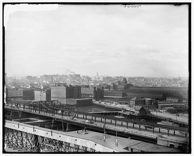 [West End and Charles River from Charlestown, Boston, Mass.]