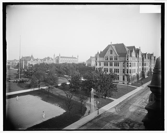[Looking east from Ellis Avenue, University of Chicago, Chicago, Ill.]