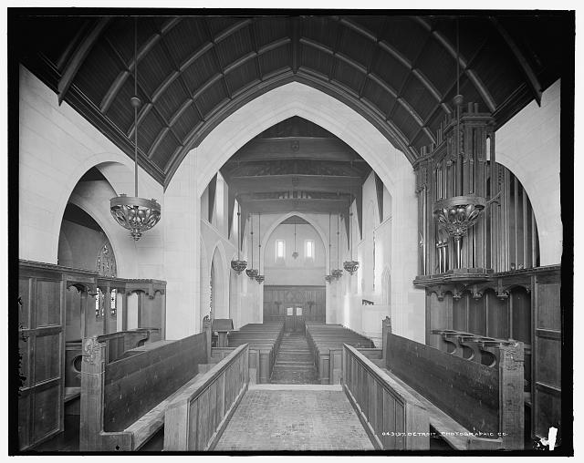 [St. Mary's Episcopal Church, interior from chancel, Walkerville, Canada]