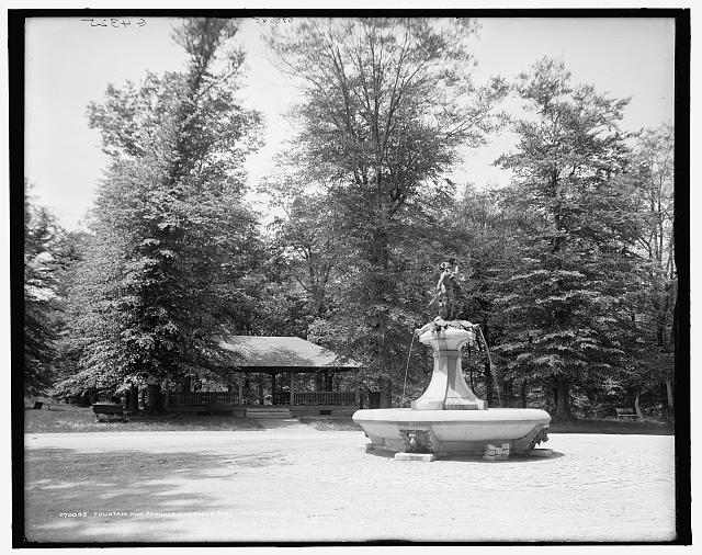Fountain and pavilion, Cherokee Park, Louisville, Ky.
