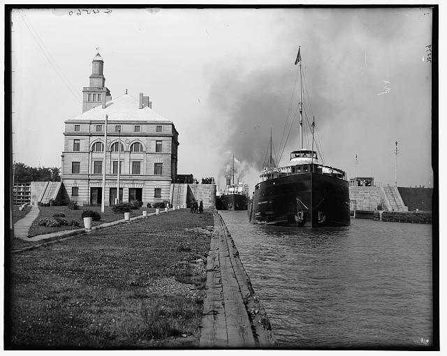[Frank J. Hecker in the locks, Sault Ste. Marie, Mich.]