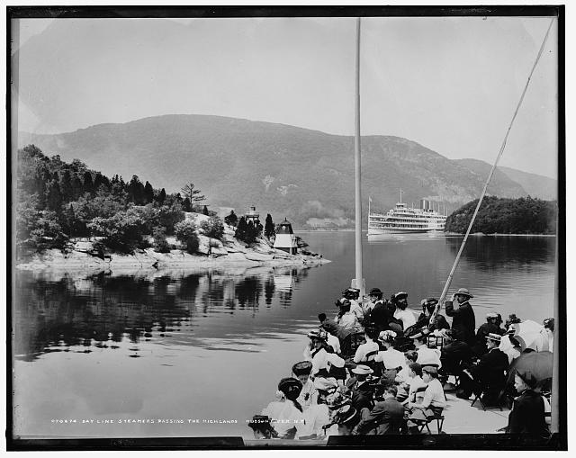 Day Line Steamers passing the Highlands, Hudson River, N.Y.