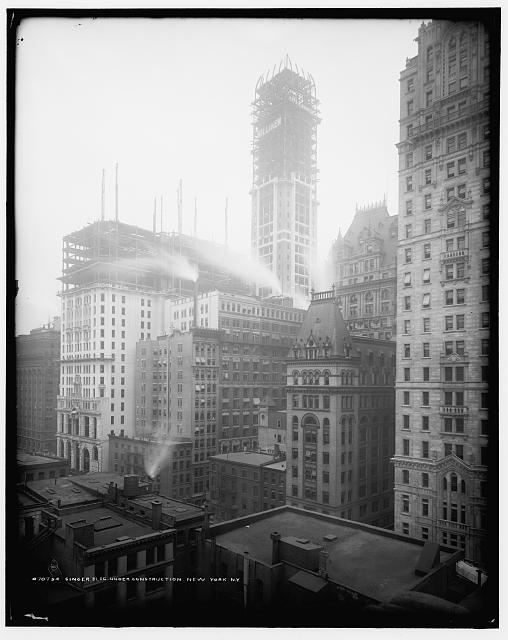 Singer Bldg. [Building] under construction, New York, N.Y.