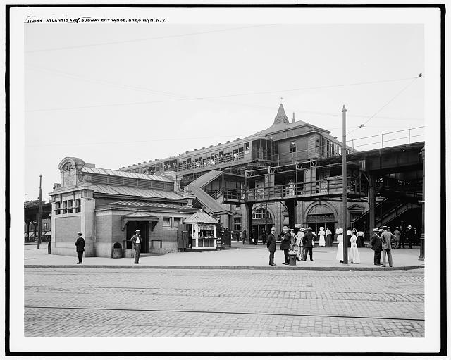 Atlantic Ave. [Avenue], subway entrance, Brooklyn, N.Y.