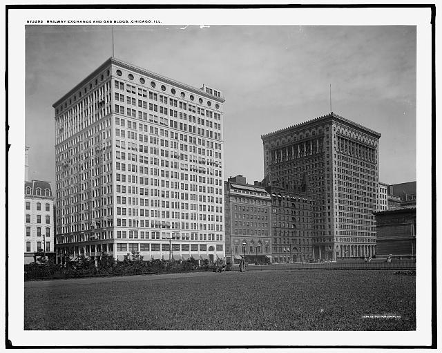 Railway Exchange and Gas bldgs., Chicago, Ill..
