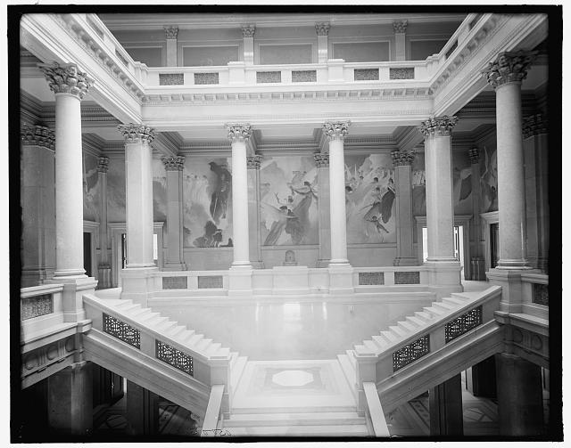 [John W. Alexander's decorations, Carnegie Library, Pittsburgh, Pa.]