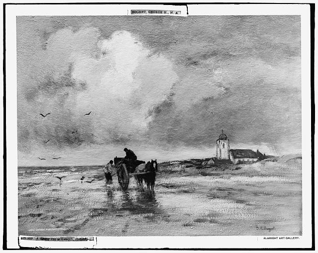 A stormy day at Katwyck, Holland