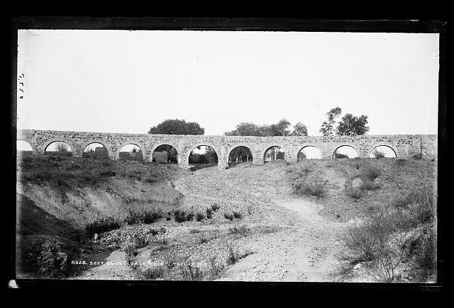 Section of old aqueduct, Chihuahua, Mexico