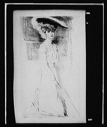 [Dorothy, three-quarter length portrait with hat]