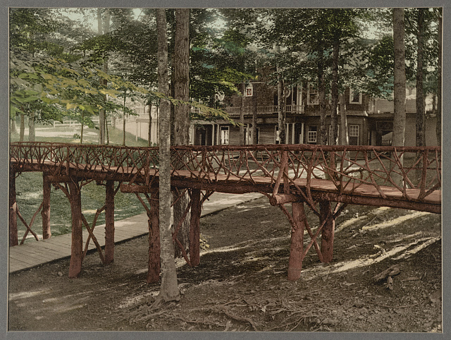 Rustic bridge, Chautauqua, New York