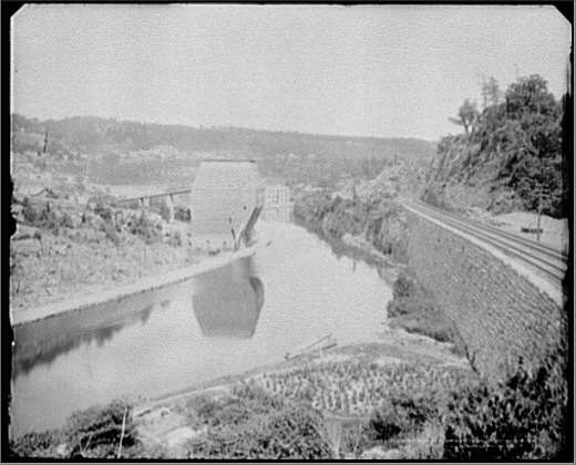 West Shore Railroad and Erie Canal at Little Falls, N.Y.