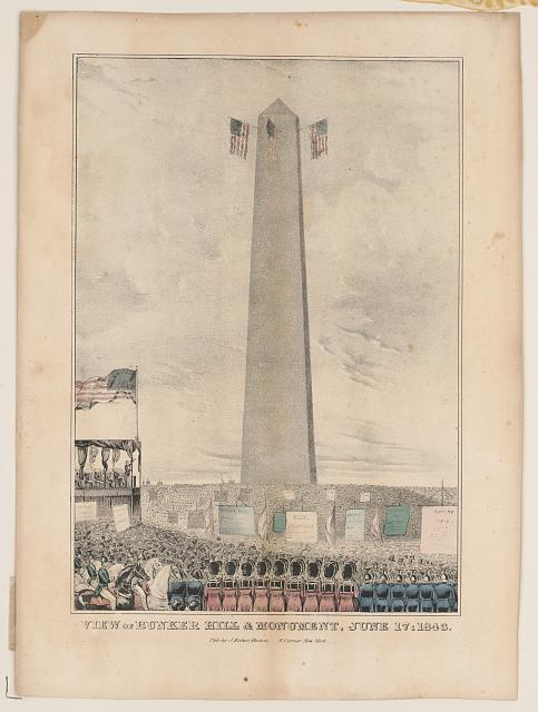 View of Bunker Hill & monument, June 17: 1843