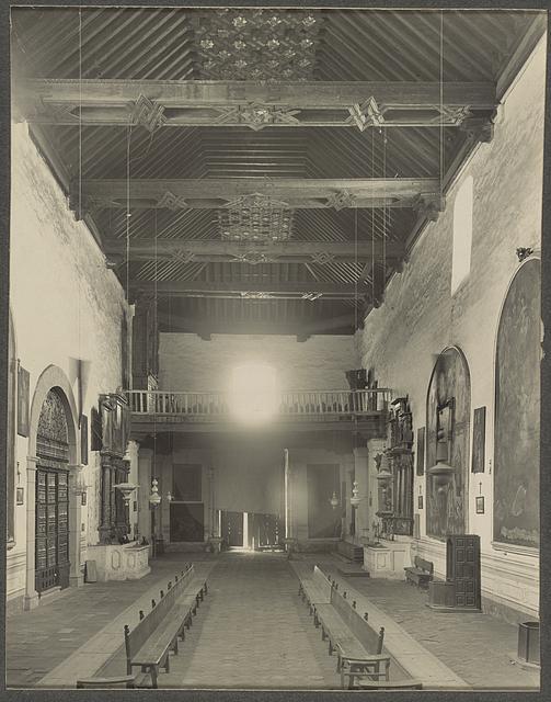 Church of San Francisco, Tlaxcala, Mexico Interior toward gallery.