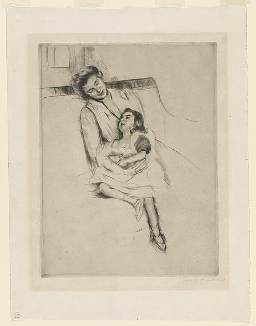 [Jeannette and her mother seated on a sofa]