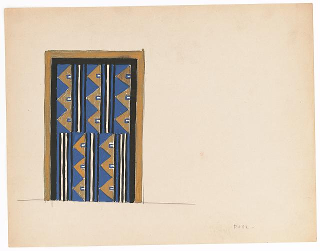 [Design for a door, possibly for the Hotel Alamac in New York]