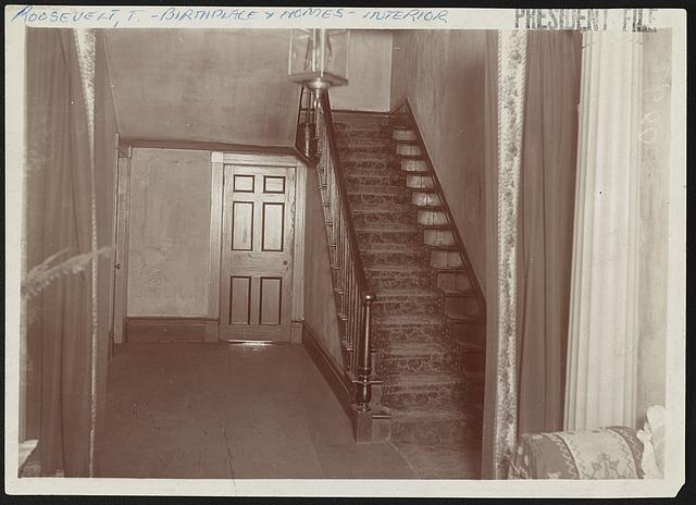 [Hallway and staircase of Bulloch Hall, Roswell, Georgia]