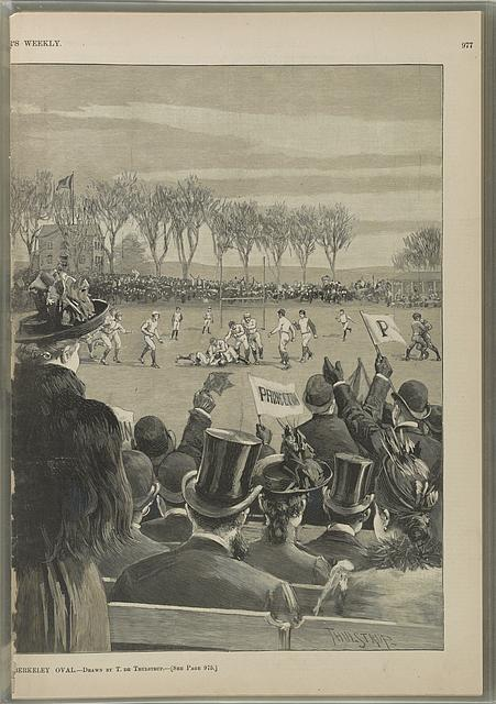 The Princeton-Yale foot-ball match at the Berkeley Oval
