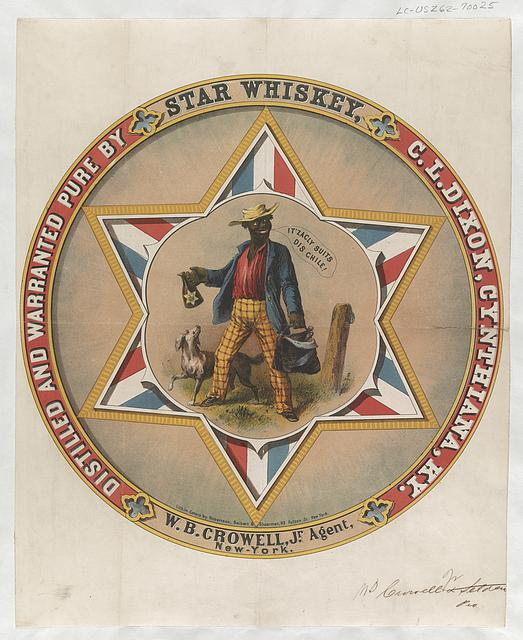 Star Whiskey Distilled and warranted pure by C.L. Dixon, Cynthiana, Ky. W.B. Crowell, Jr., agent, New-York /